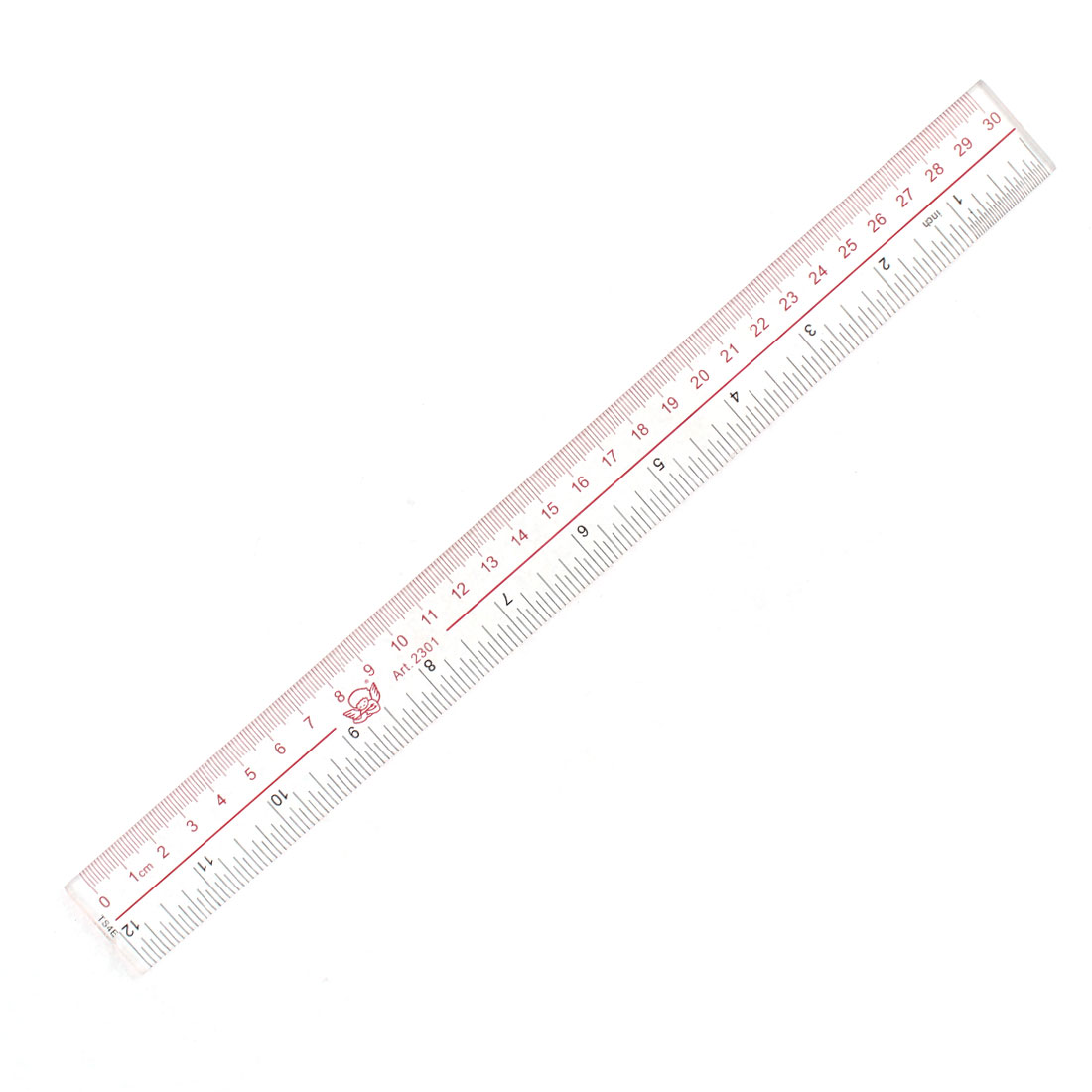 Students Studying Drawing Straight Ruler Measuring Tool 30cm Range Clear