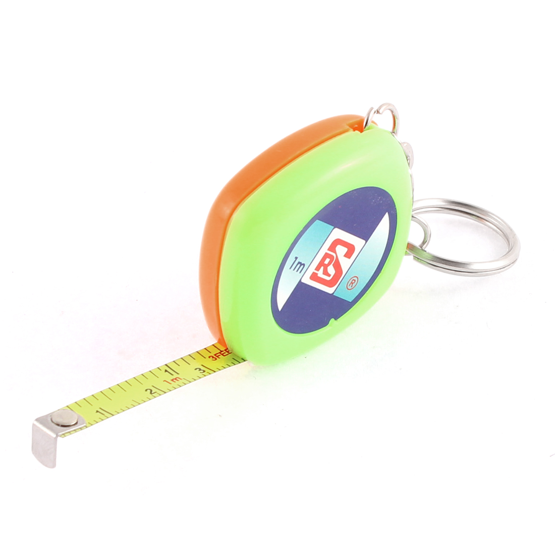 1M 3.3Ft Long 6mm Width Retractable Metric Steel Tape Ruler Measure Tool