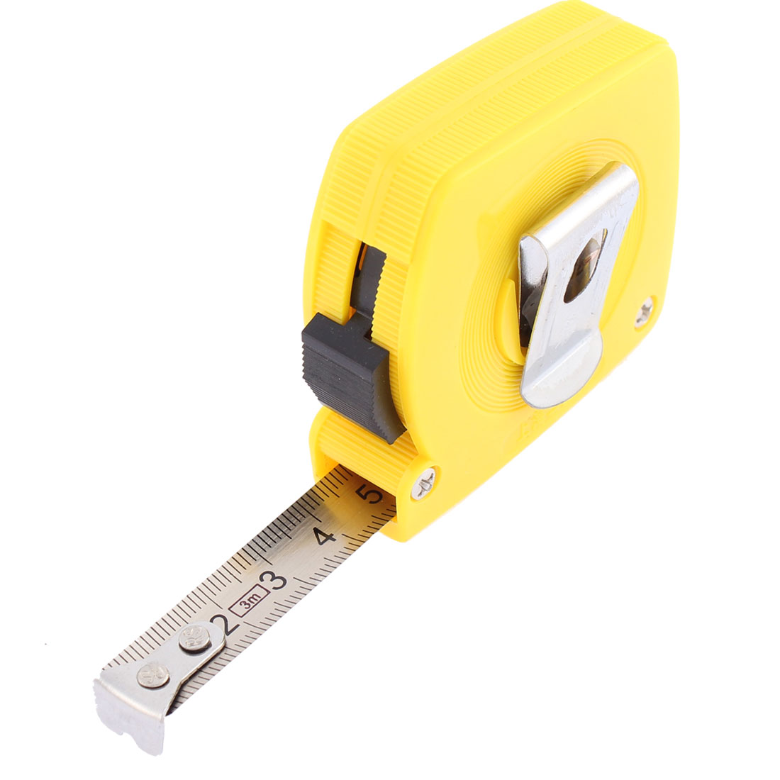 3 Meter 9.8Ft Long 12mm Width Retractable Metric Steel Tape Ruler Measure Tool