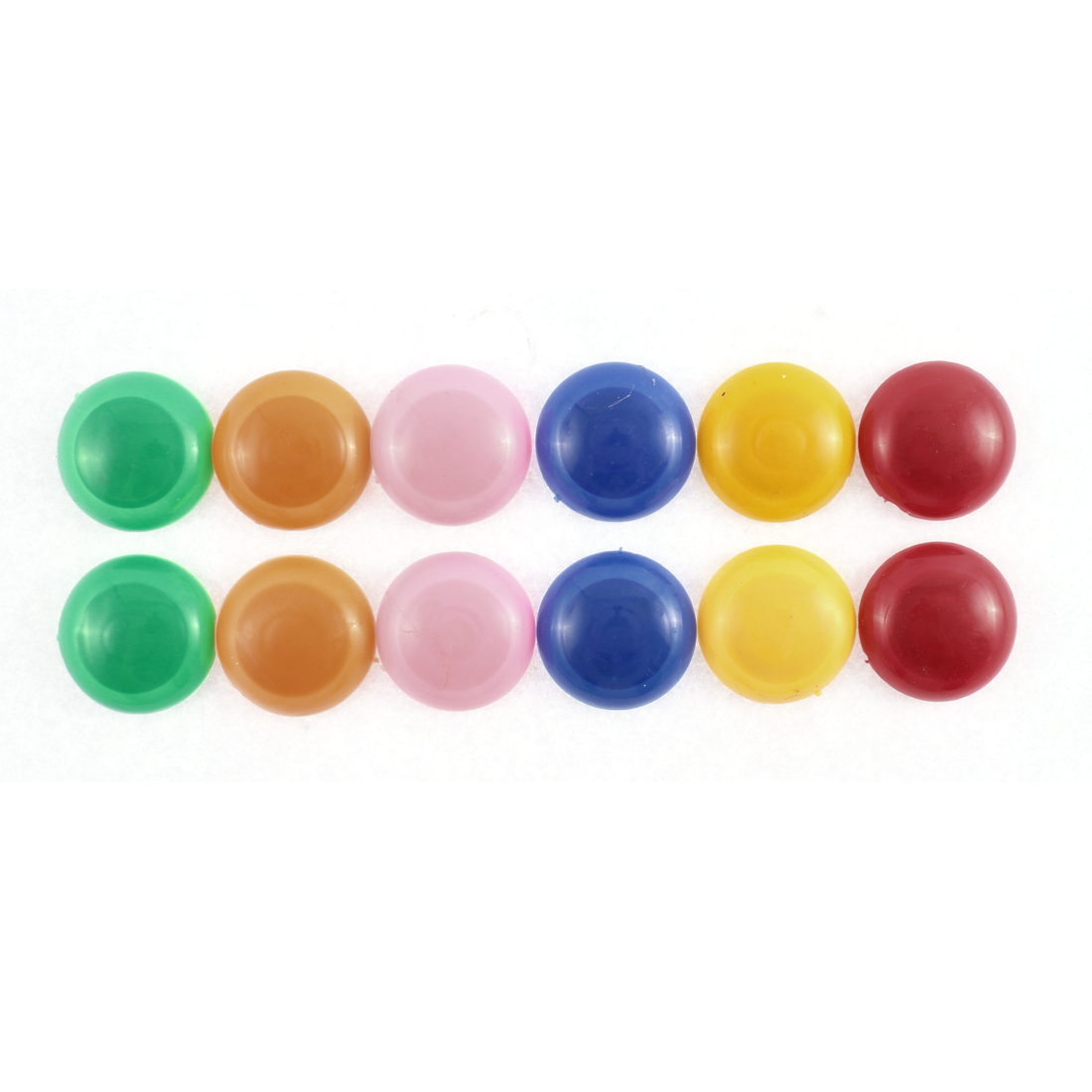 School Office Home Whiteboard Magnet Pins Buttons Assorted Color 30mm 12 Pcs