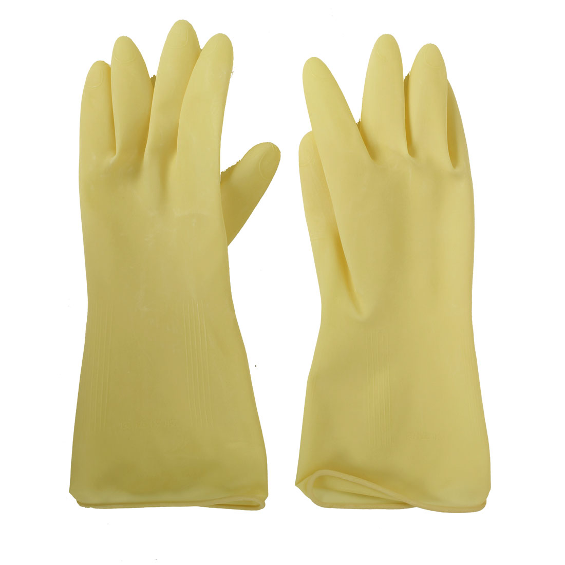Factory Oil Resistant Waterproof Hand Protector Rubber Coated Gloves Beige Pair
