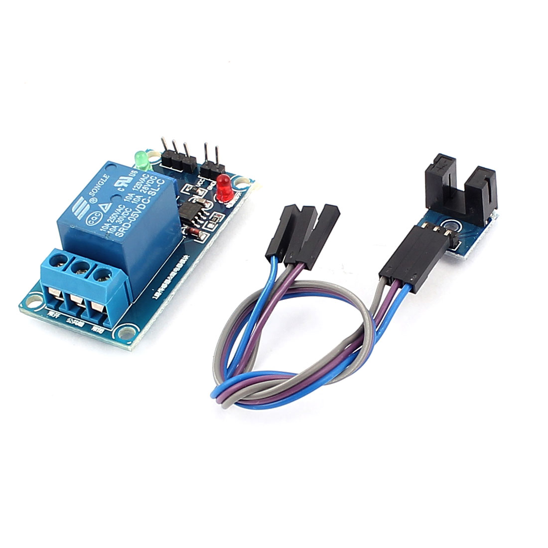 DC 5V Single Channel Speed Detection Sensor PCB Circuit Relay Module Blue