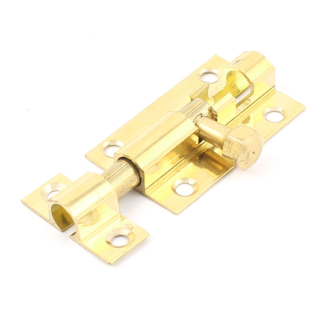 Home Cabinet Door Safety Slide Latch Lock Metal Barrel Bolt Hasp Gold Tone