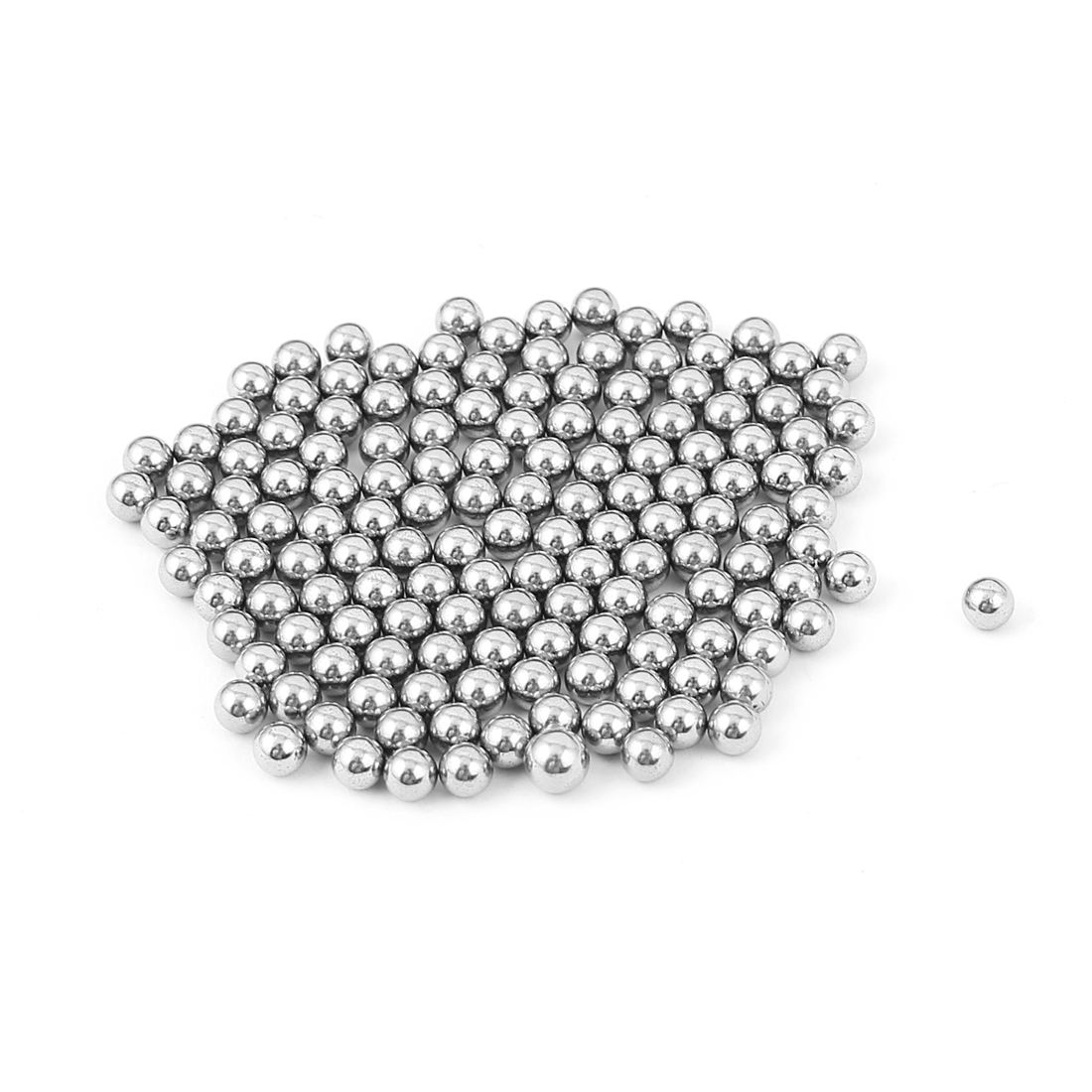 4mm Dia Replacement Bike Bicycle Wheel Steel Bearing Ball Silver Tone 155Pcs
