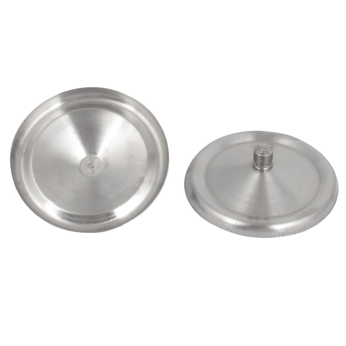 8cm Dia Round Shape Home Sealed Drink Cup Mug Lid Cap Cover Silver Tone 2Pcs