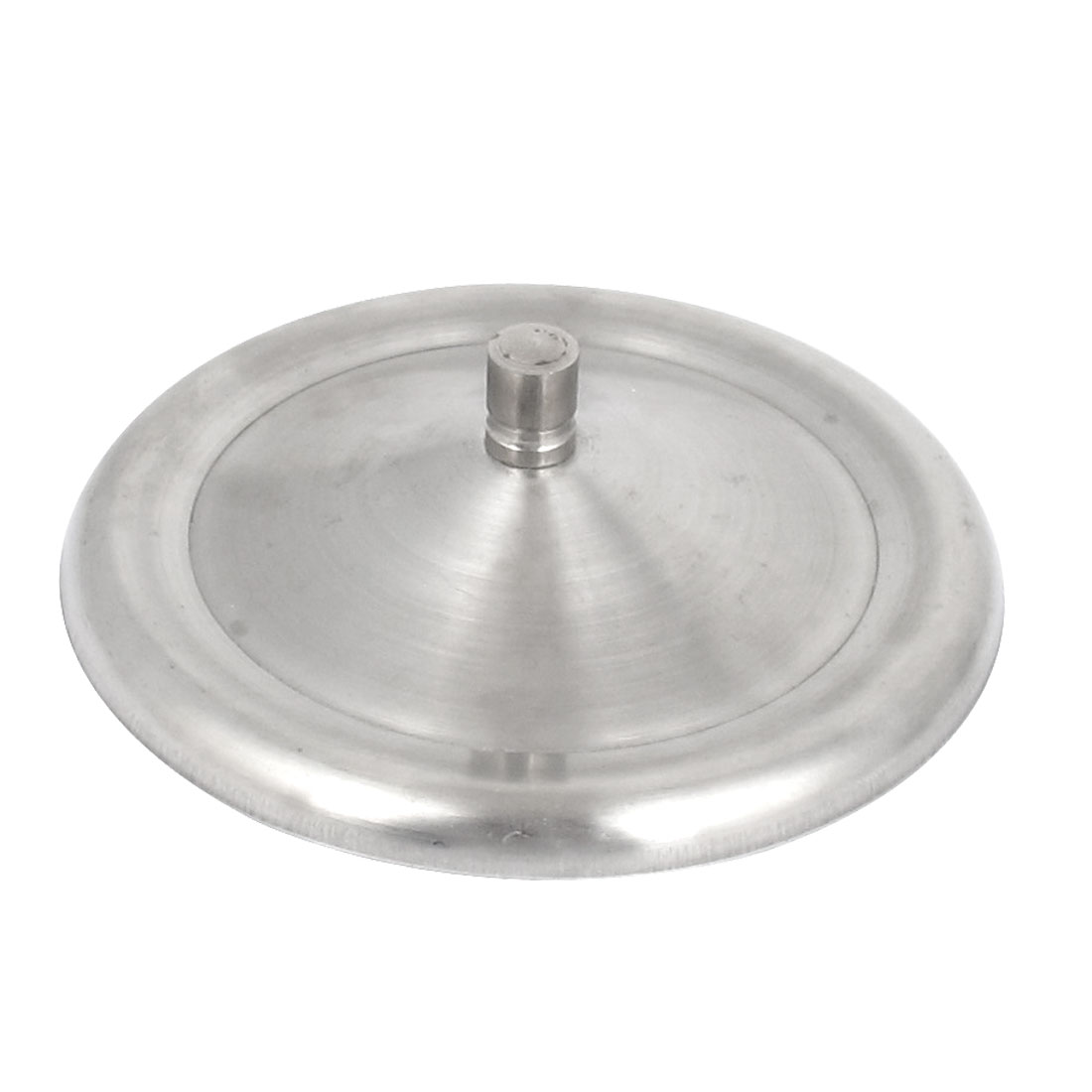10.6cm Dia Round Shape Home Sealed Drink Cup Mug Lid Cap Cover Silver Tone