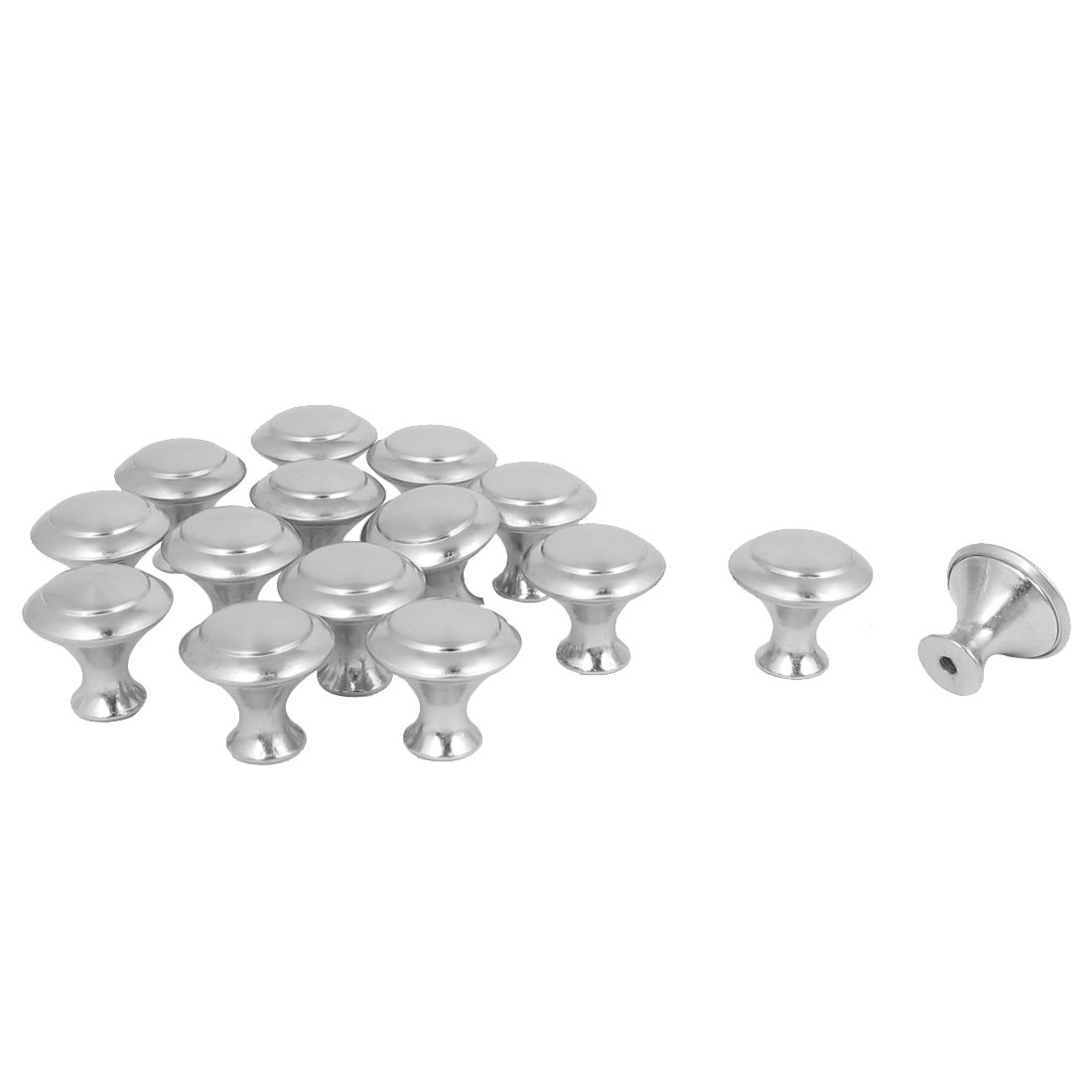 Home Door Drawer Cabinet Cupboard Closet Round Metal Pull Knob Handle 15Pcs