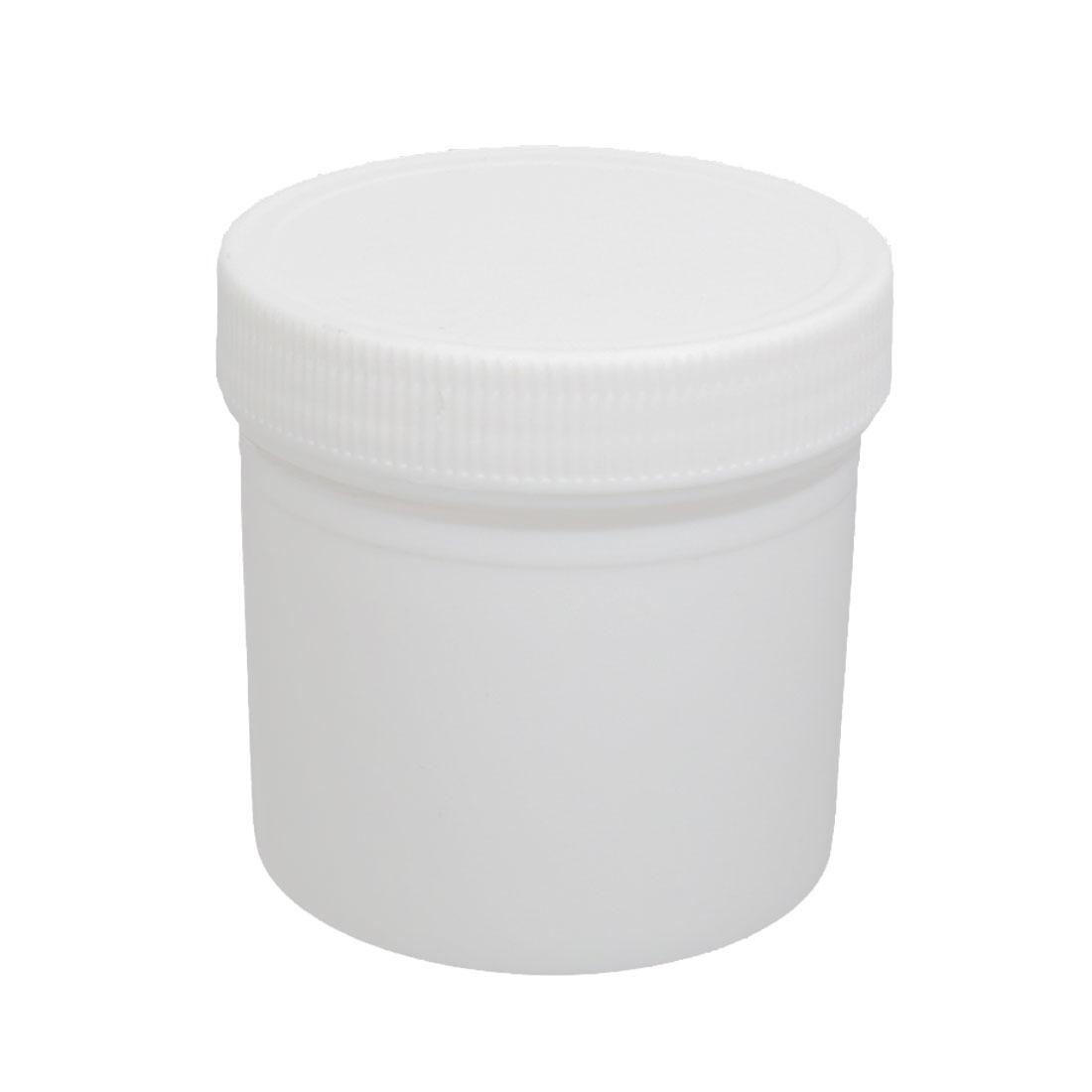 Plastic Screw Cap Cover Pill Tablet Capsule Container Empty Medicine Bottle White