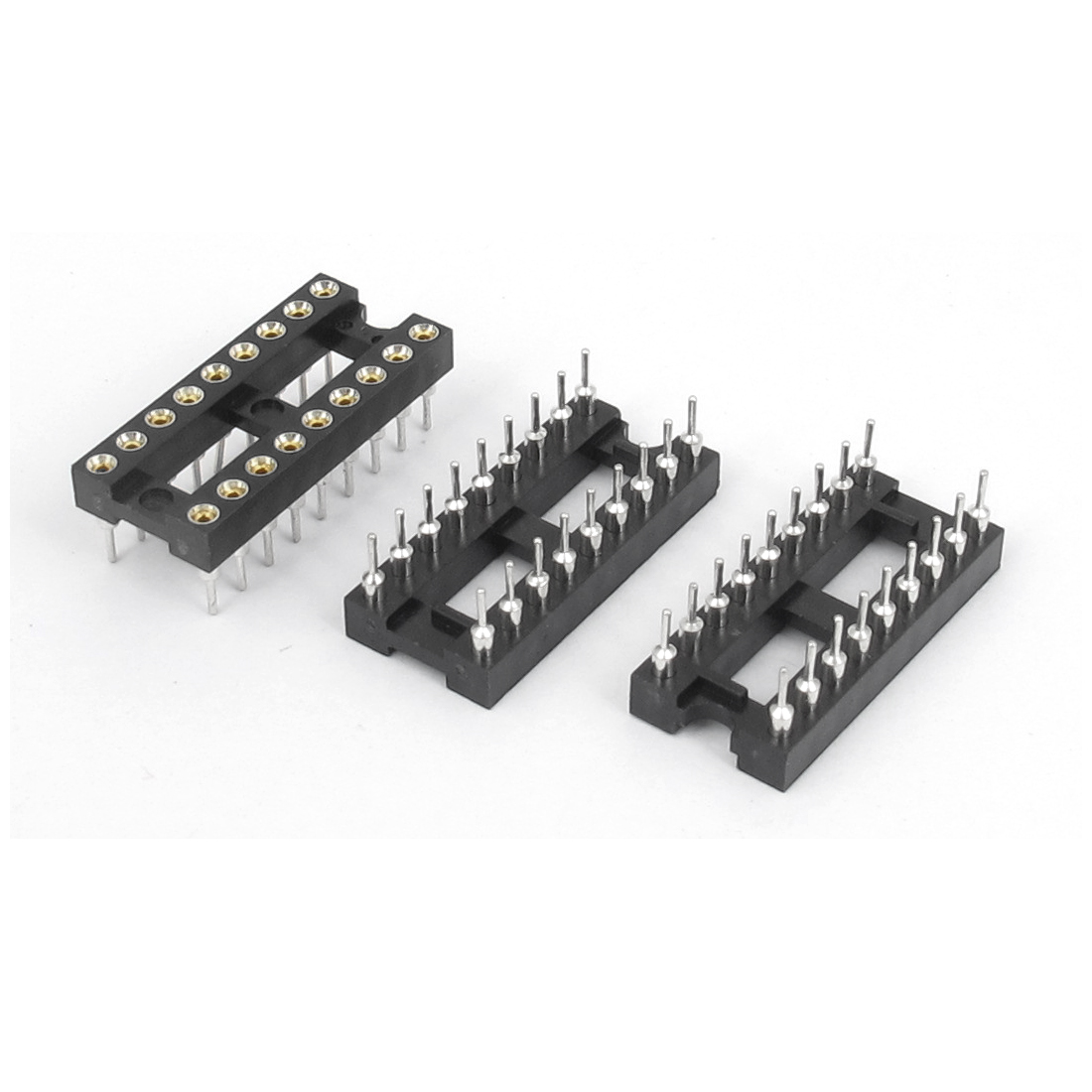3PCS Solder Type 2 Row 18 Pins Integrated Circuit DIP IC Sockets Adaptor