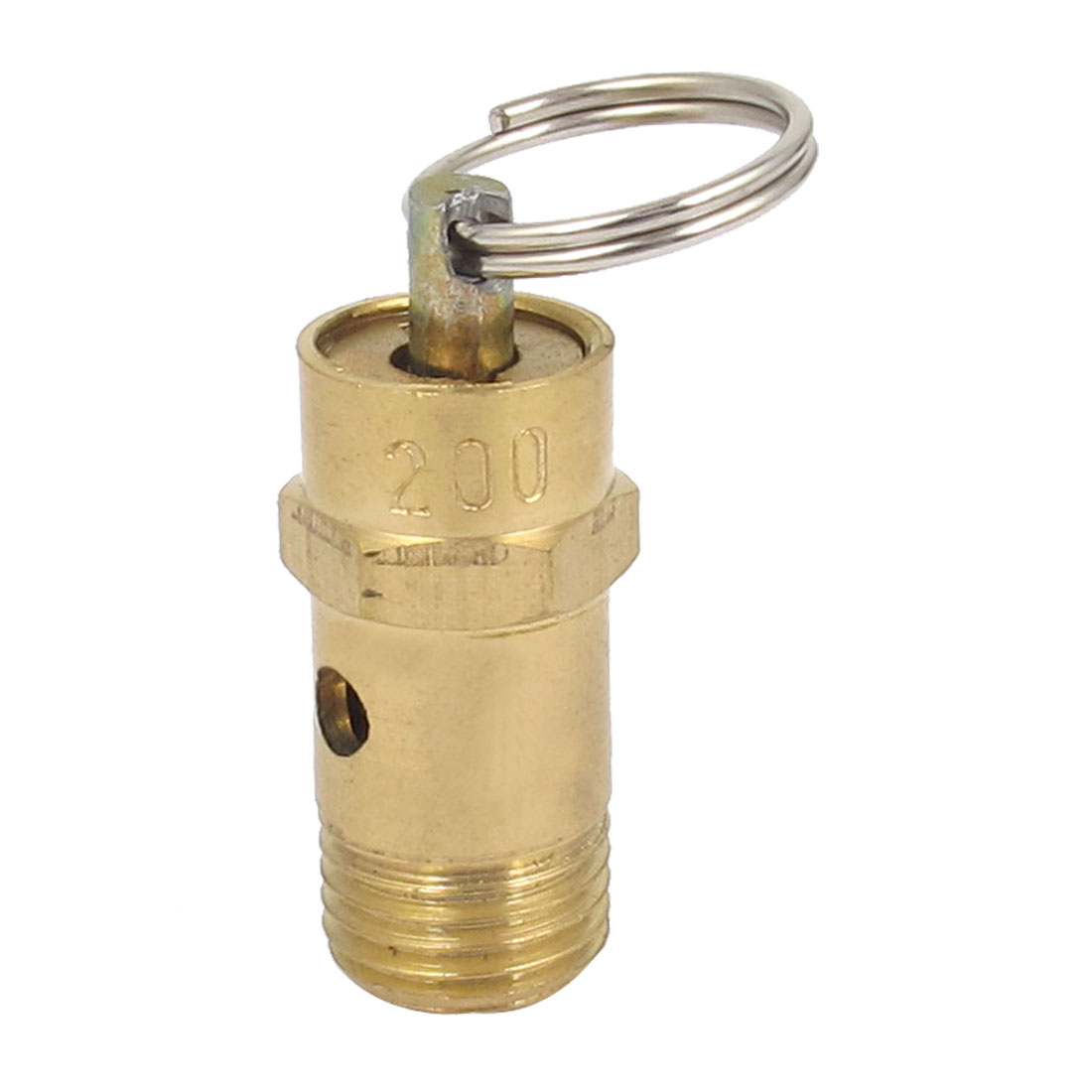 Air Compressor Safety Relief Pressure Valve Brass Tone 13mm Male Thread