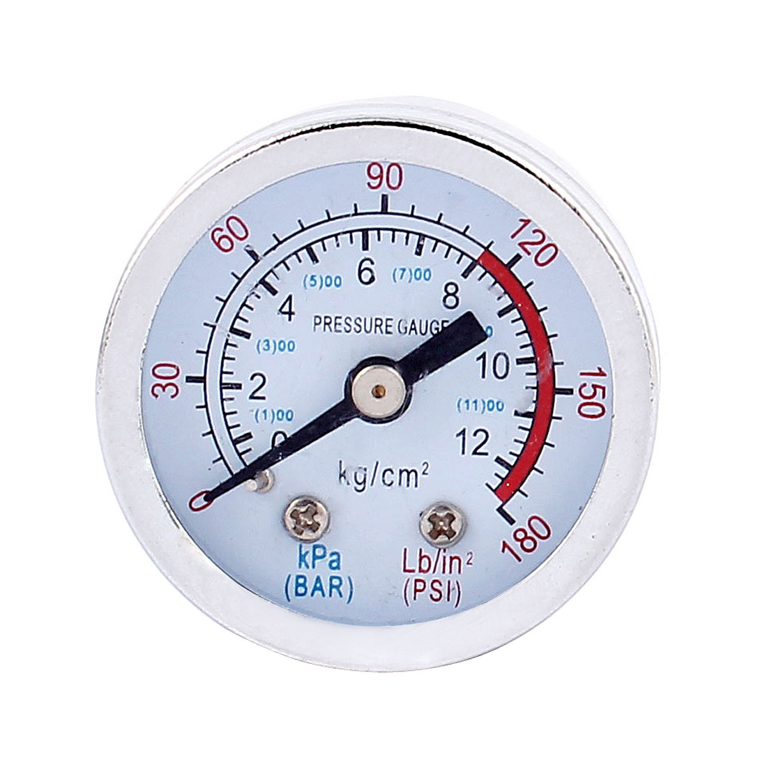 0-180PSI 0-12 kg/cm2 9.5mm 1/8BSP Thread Dia Dial Air Pressure Gauge