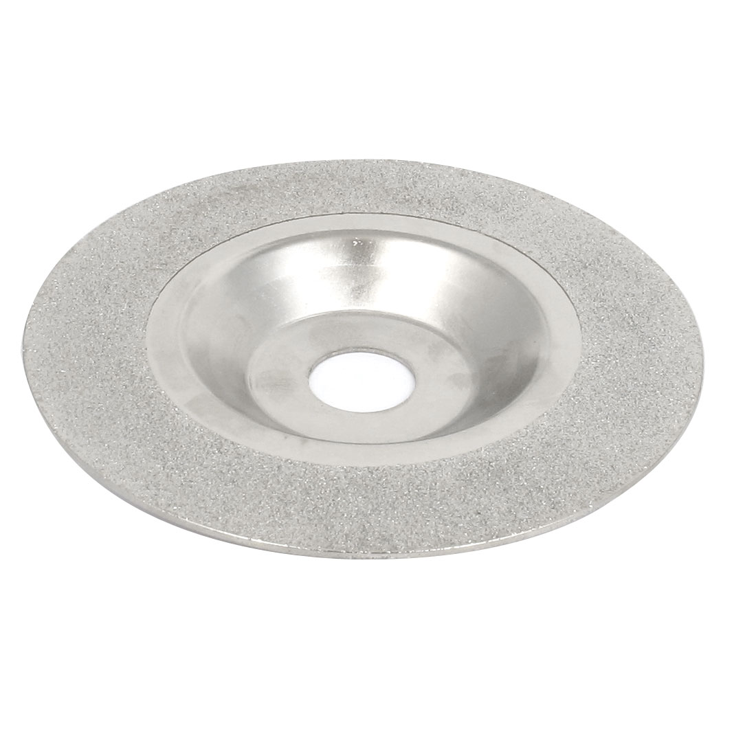 100mmx16mm Marble Glass Diamond Cup Concave Grinding Disc Wheel Silver Tone