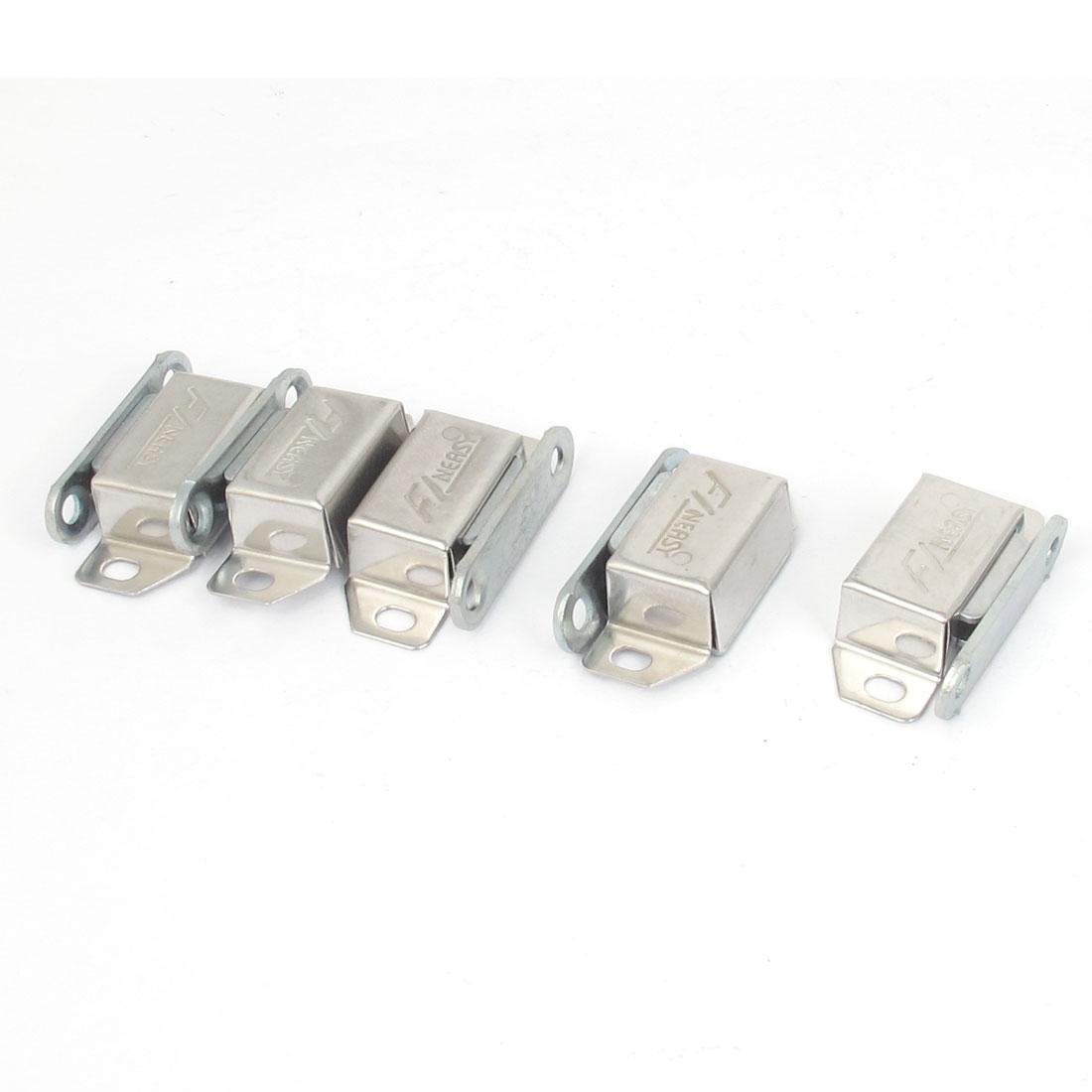 Door Cupboard Cabinet 37mm Length Magnetic Catch Latch Metal Plate 5Pcs