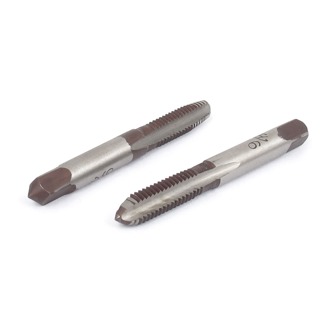 2pcs M6 6mm 3 Flutes High Speed Steel HSS Hand Screw Thread Metric Plug Taps