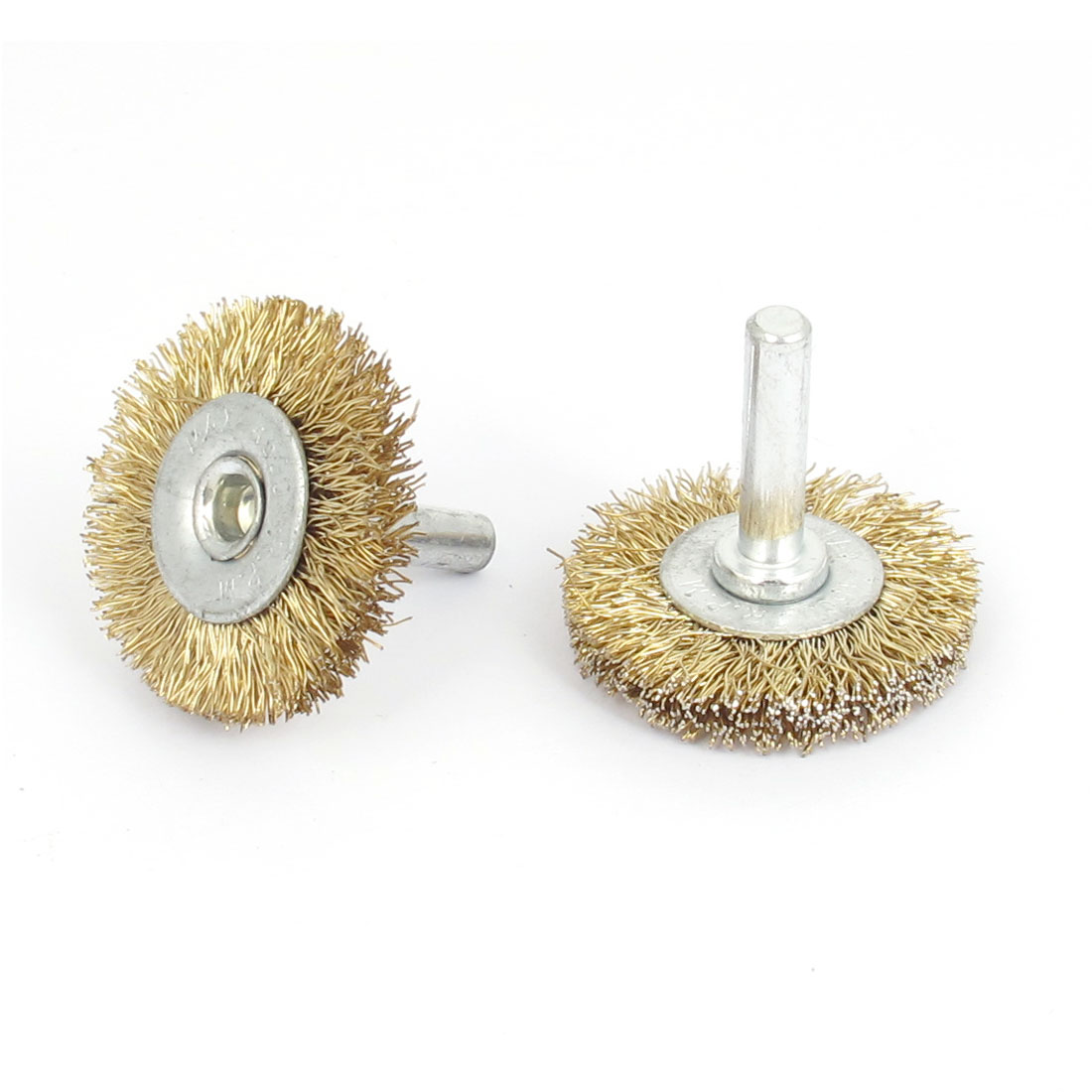 2pcs 38 x 6mm Steel Wire Polishing Buffing Wheels Grinding Brushes Rotary Tool