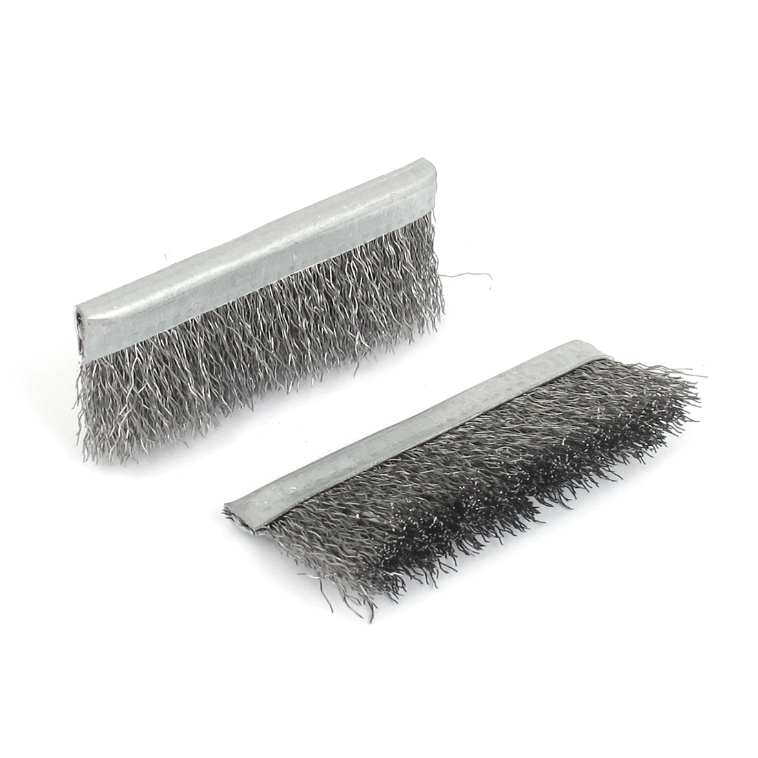 60mm Length Metal Steel Wire Cleaning Brush Handy Tool Silver Tone 2PCS