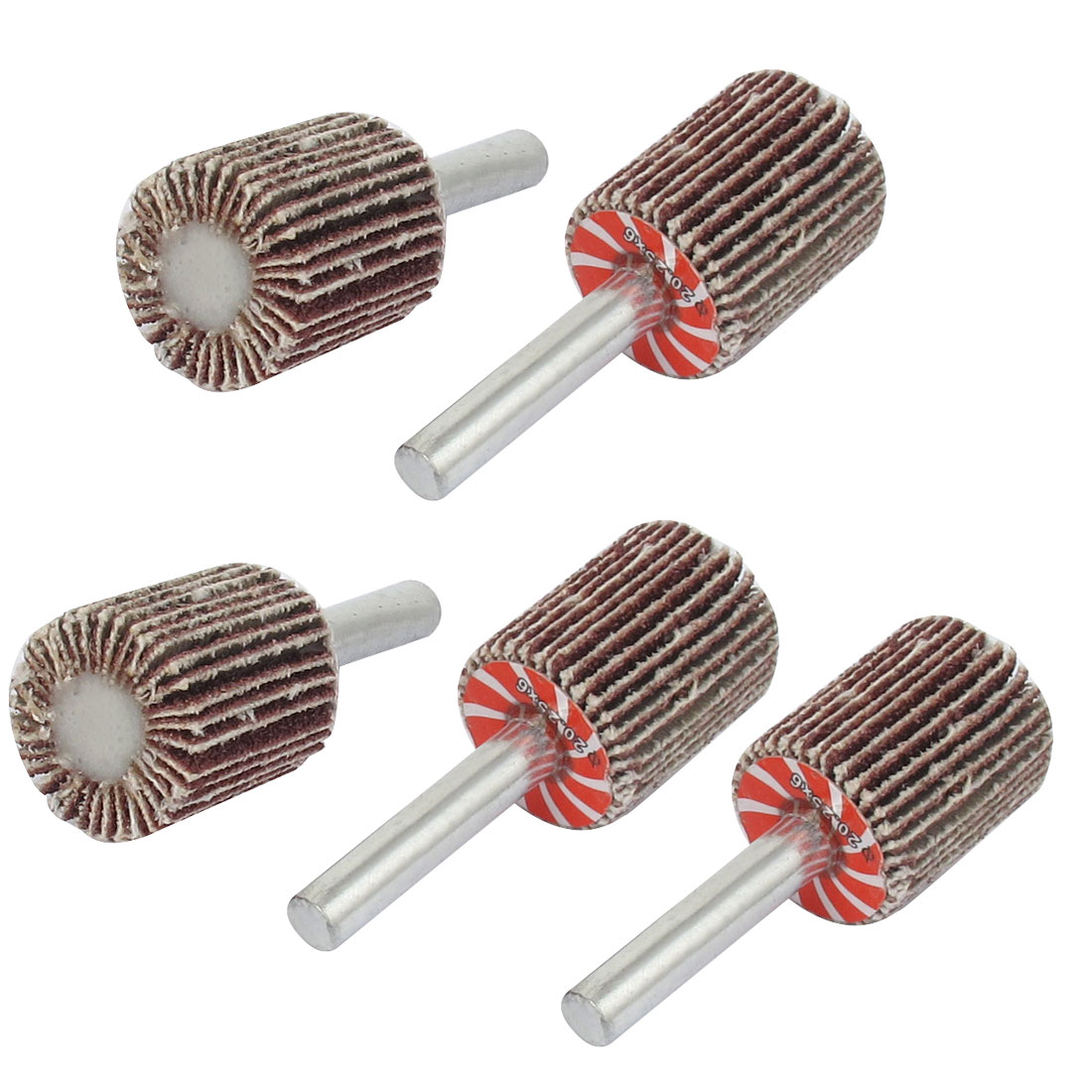 5PCS 6mm Dia Mounted Shank 20mm Flap Wheel Disc Grinding Polishing Tool