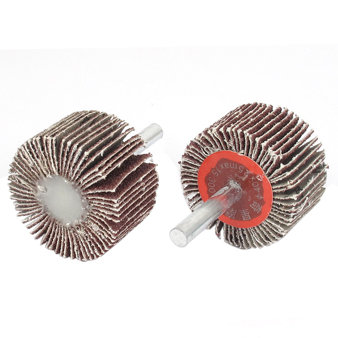 2PCS 6mm Dia Mounted Shank 40mm Flap Wheel Disc Grinding Polishing Tool
