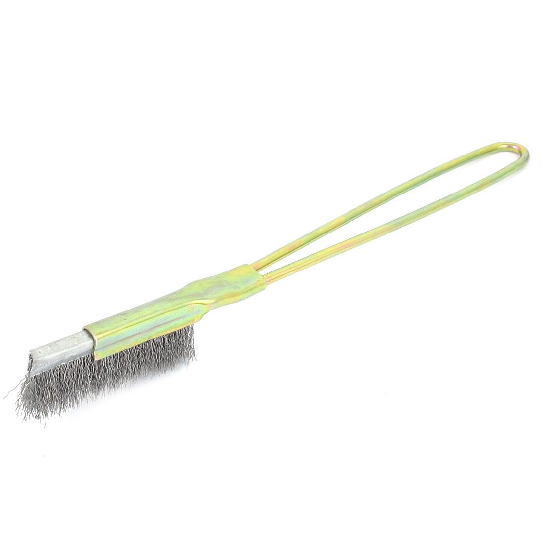 21cm Length Handheld Metal Handle Steel Wire Cleaning Brush Tool