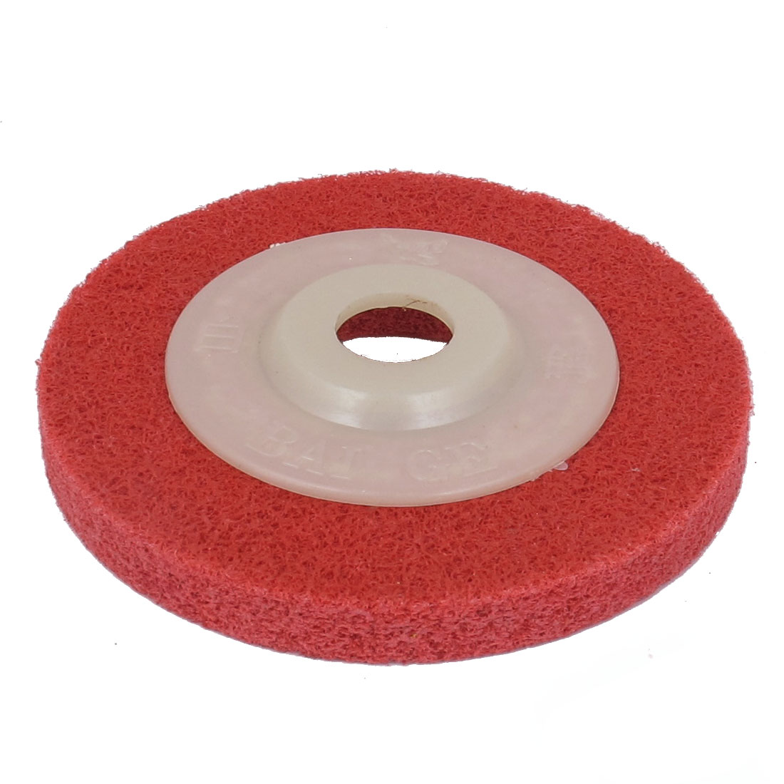 15mm Bore 100mm Dia Nylon Fiber Wheel Abrasive Polishing Buffing Disc Red White