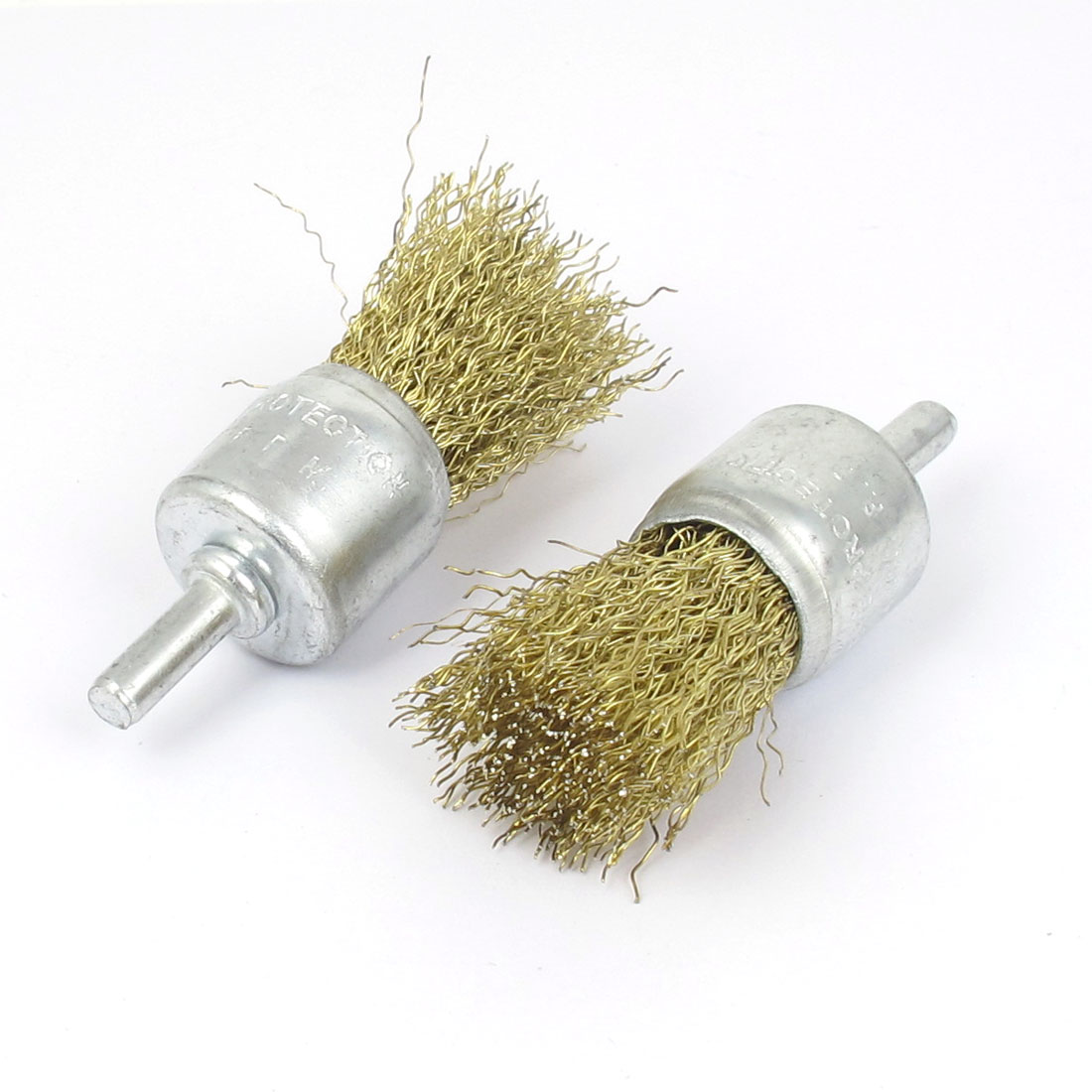6mm Shank 24mm Dia Crimped Steel Wire Clean Polishing Brushes 2pcs