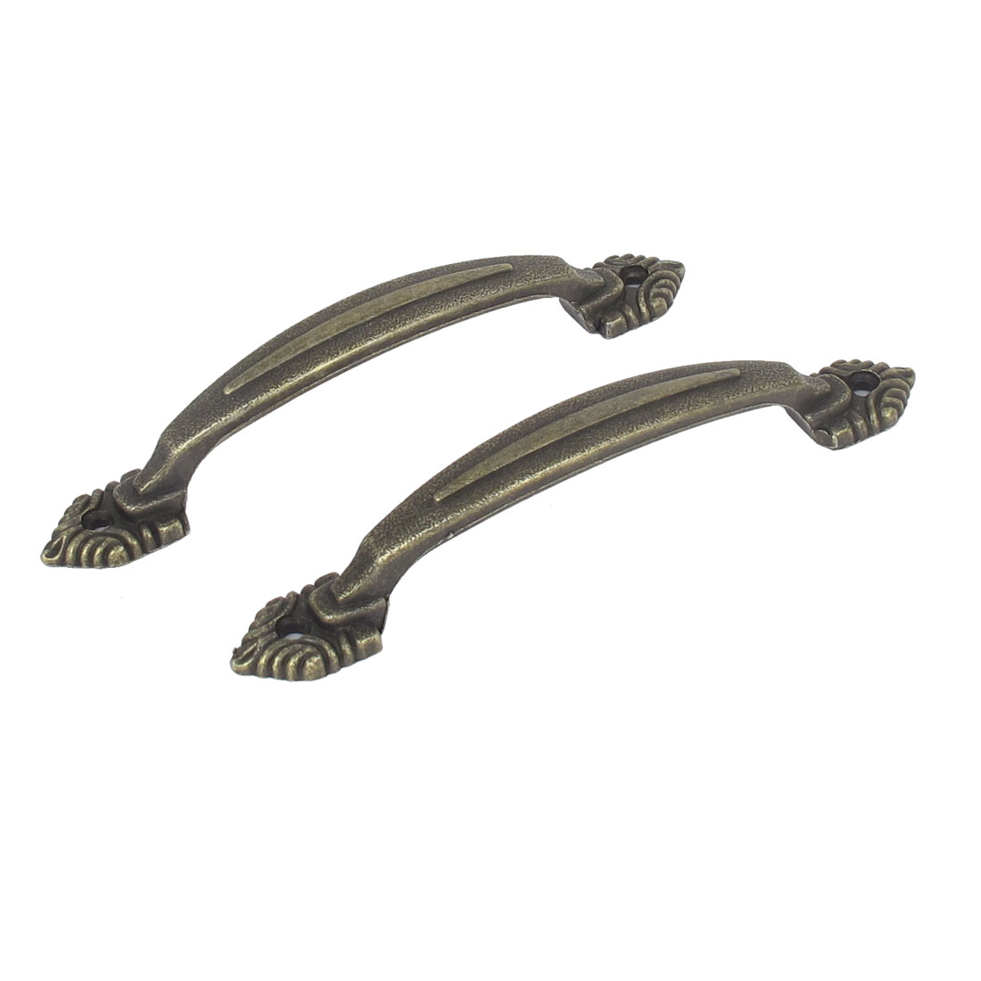 2 Pcs 116mm Metal Embossed Arch Knob Cabinet Door Pulls Handles Hardware