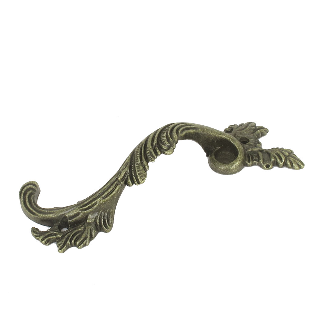 128mm Metal Retro Style Embossed Arch Knob Cabinet Door Pull Handle Hardware