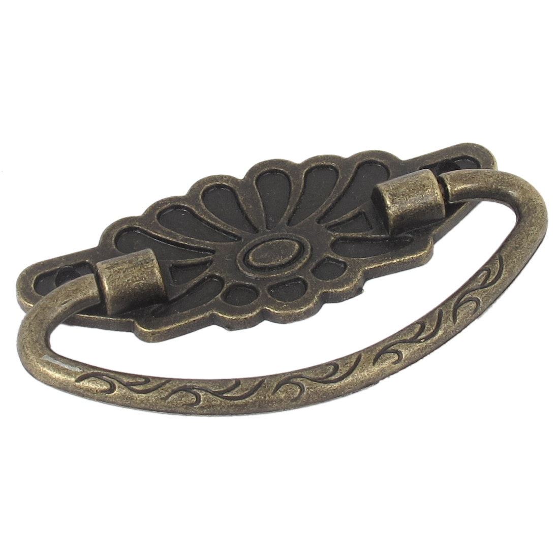 Vintage Style Arch Grip Ring Dresser Drawer Pull Handle Bronze Tone