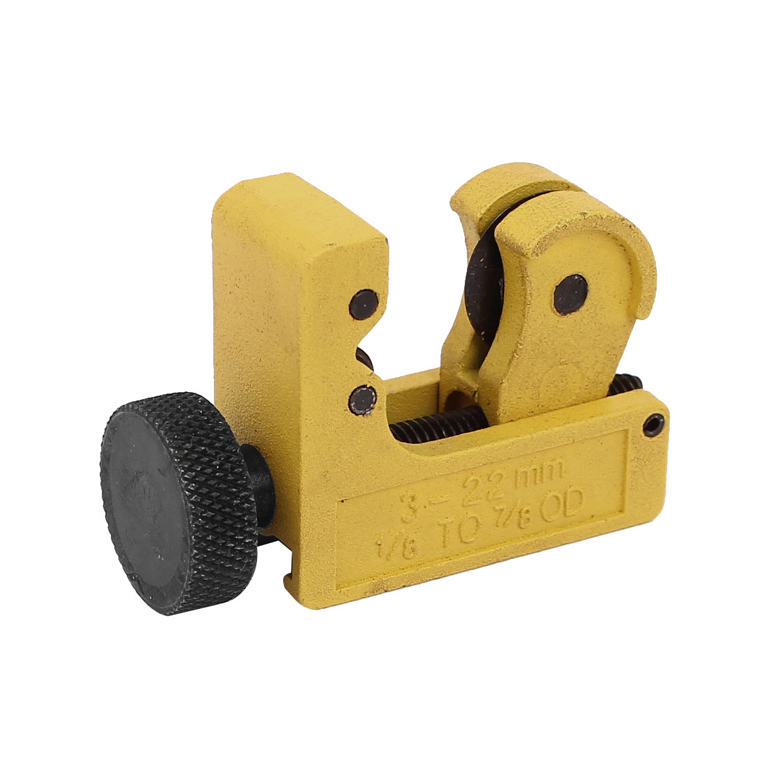 "Mini Yellow 1/8"" to 7/8"" Outside Dia Copper Iron Pipe Tube Cutter Tool"