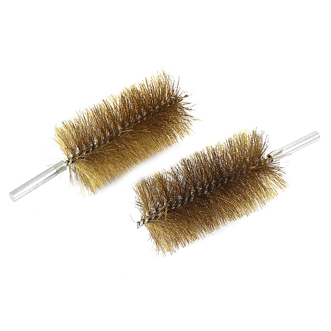 60mm Brush Dia Copper Wire Tube Brushes Cleaning Tool 2pcs