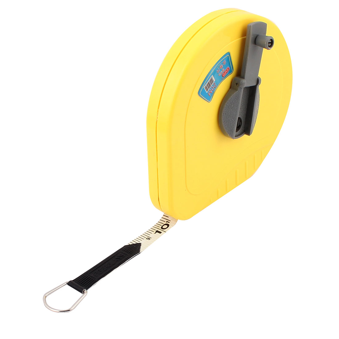 20M Yellow Plastic Heart Shaped Shell Retractable Dual Measuring Tape Ruler
