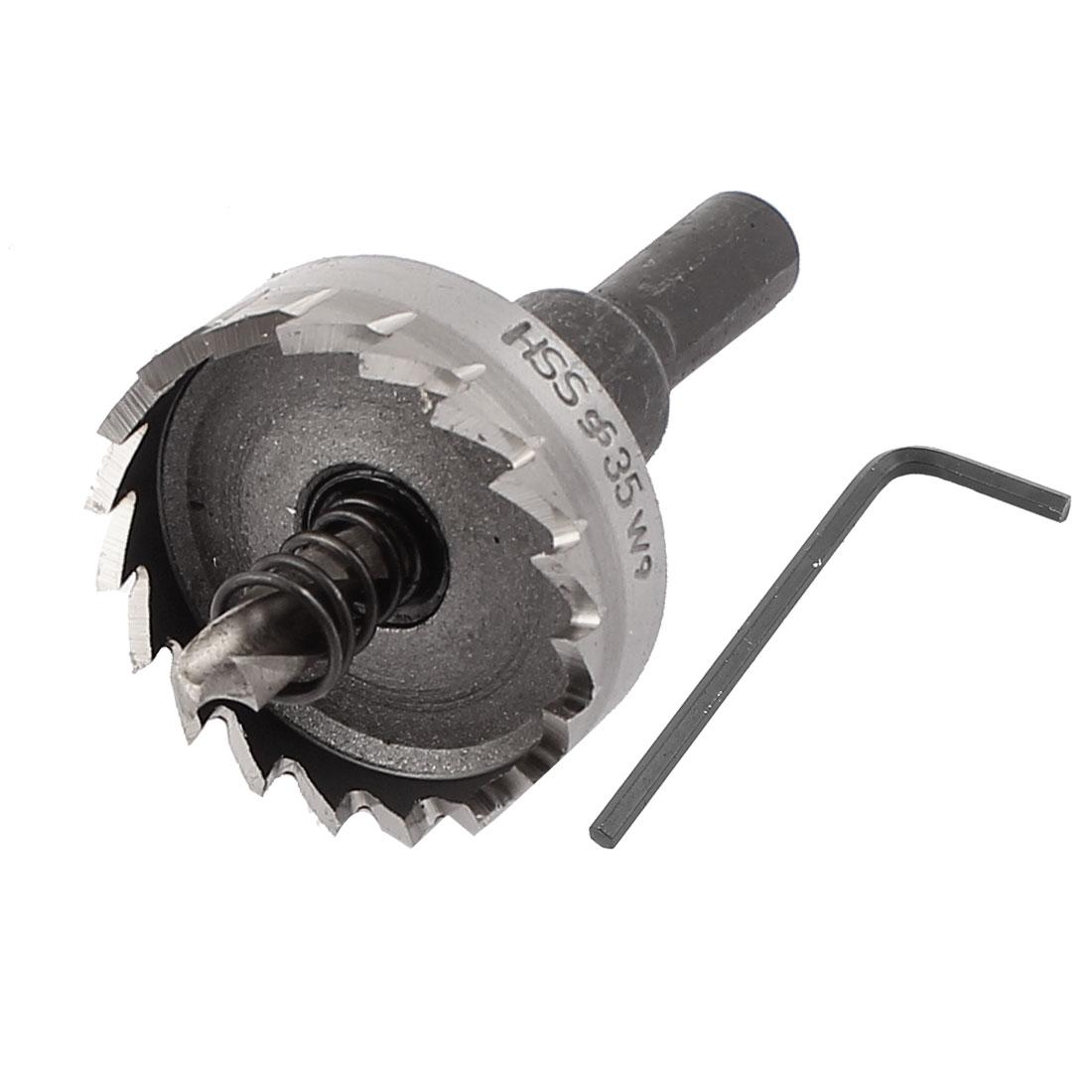 Metal 35mm Cutting Dia 9mm Shank Dia Twist Drill Bit Carbide Hole Saw Cutter Tool