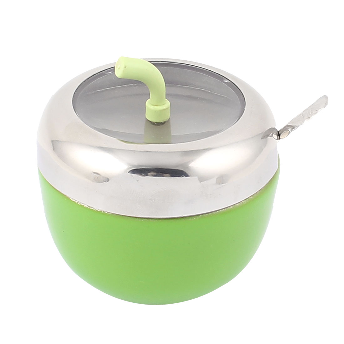 Home Kitchen Rotatable Lid Stainless Steel Spices Cruet Bottle Chili Powder Toothpick Holder