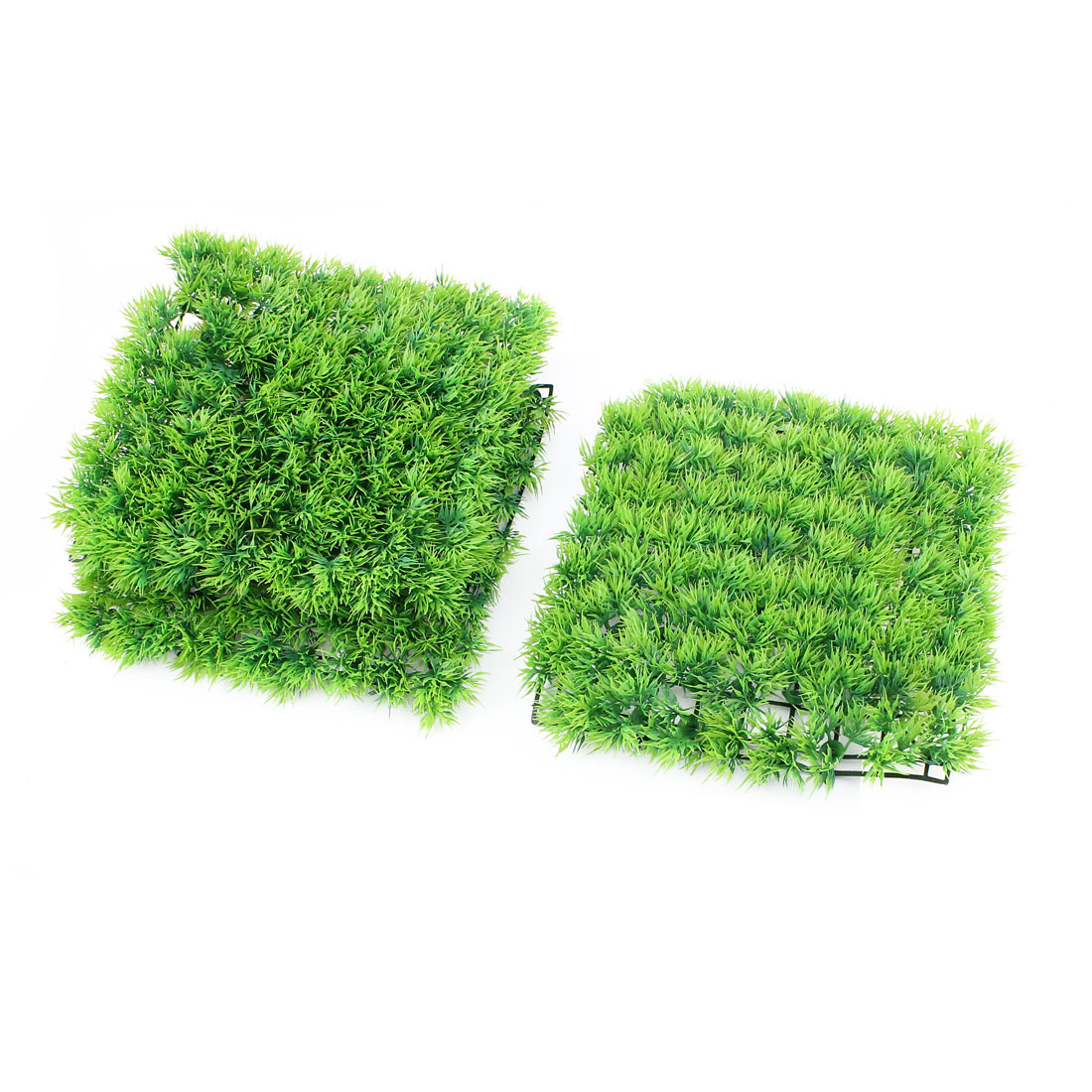 "Fish Tank Aquarium Square Plastic Emulation Grass Plant Decor 10"" Height Green 3 Pcs"