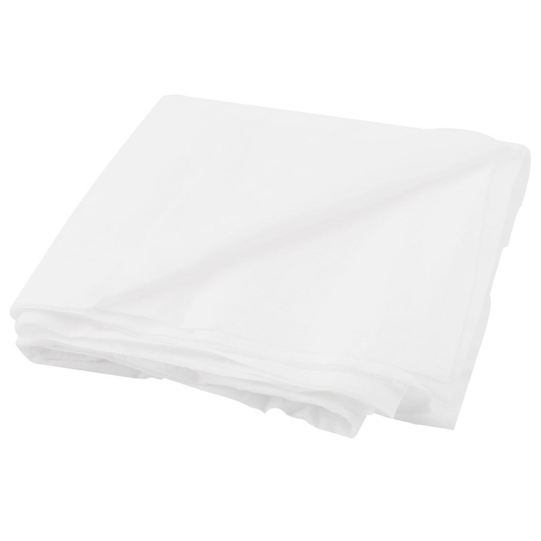 Home Hotel Non-woven Fabrics Rectangle Towel Sheet White 138cm x 77cm