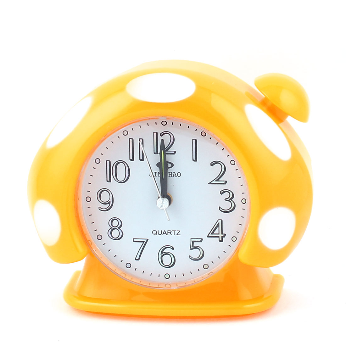 Home Office Plastic Mushroom Shaped Digital LCD Desktop Alarm Clock Yellow