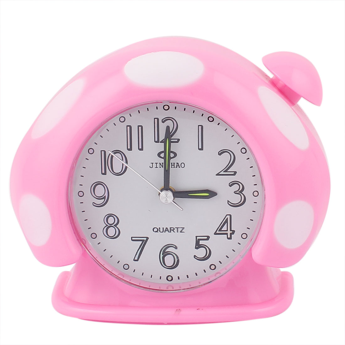 Plastic Mushroom Shaped Home Office Digital LCD Desktop Alarm Clock Pink