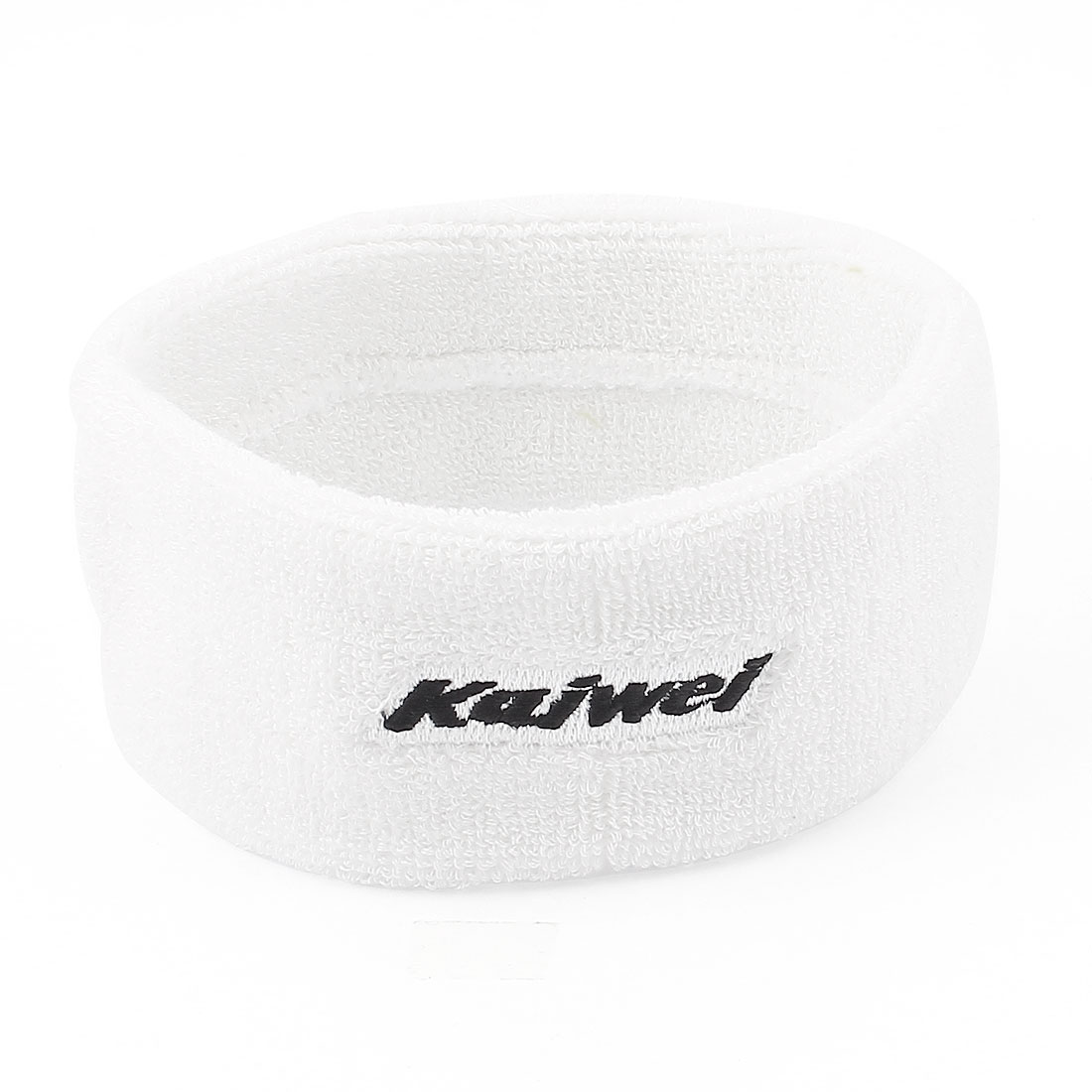 Sports Protection Terry Fabric Elastic Bands Headbands White