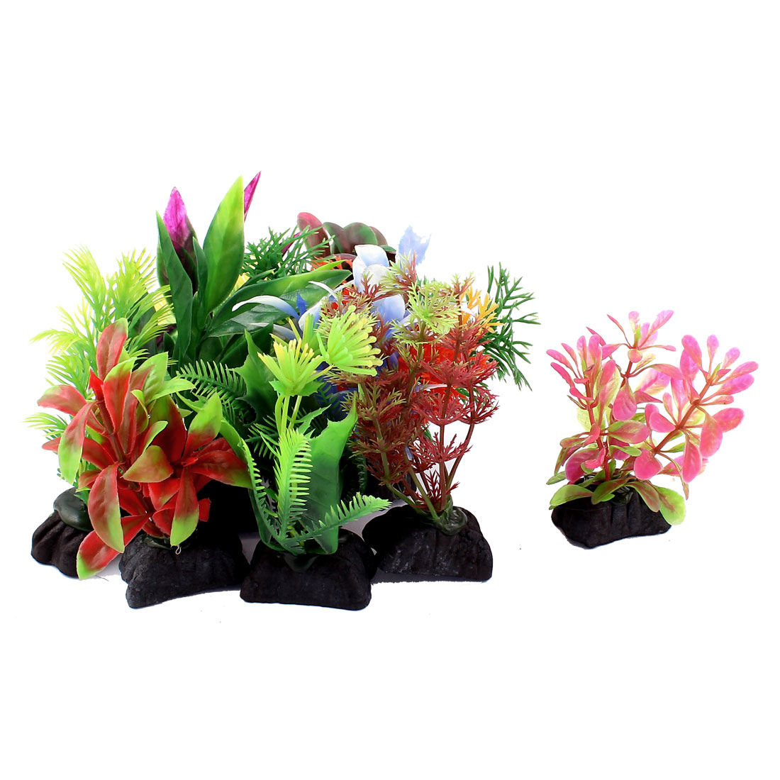 Fish Tank Aquarium Plastic Artificial Water Plant Decor 10Pcs