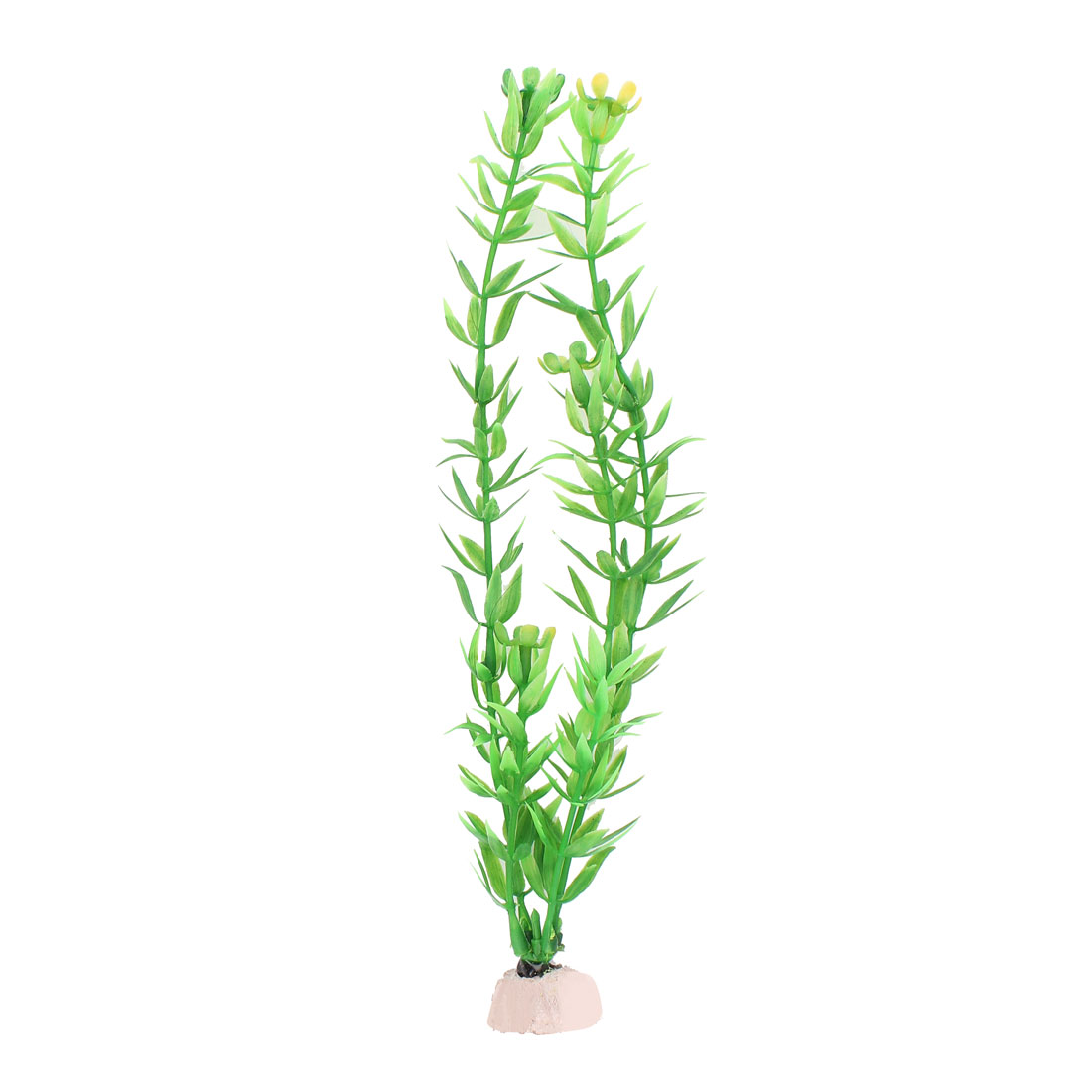 "Aquarium 10"" Height Artificial Underwater Landscape Plant Green White 10 PCS"