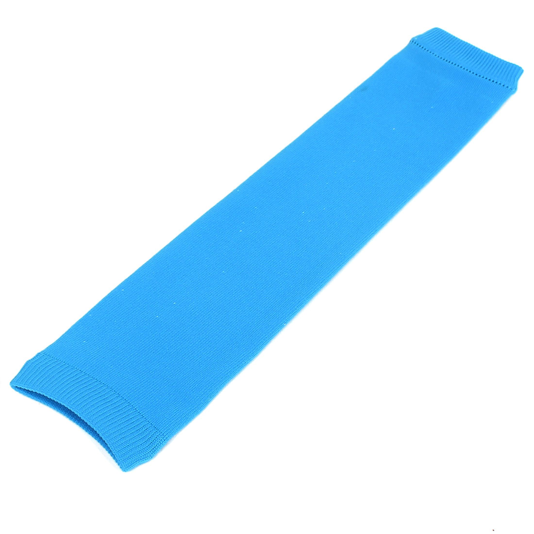 Sports Gym Elastic Sleeve Knee Muscle Protector Support Brace Guard Sky Blue