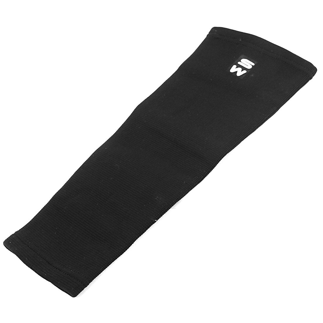 Nylon Latex Silk Elastic Leg Muscle Support Sports Protector Sleeve Knee Brace Black