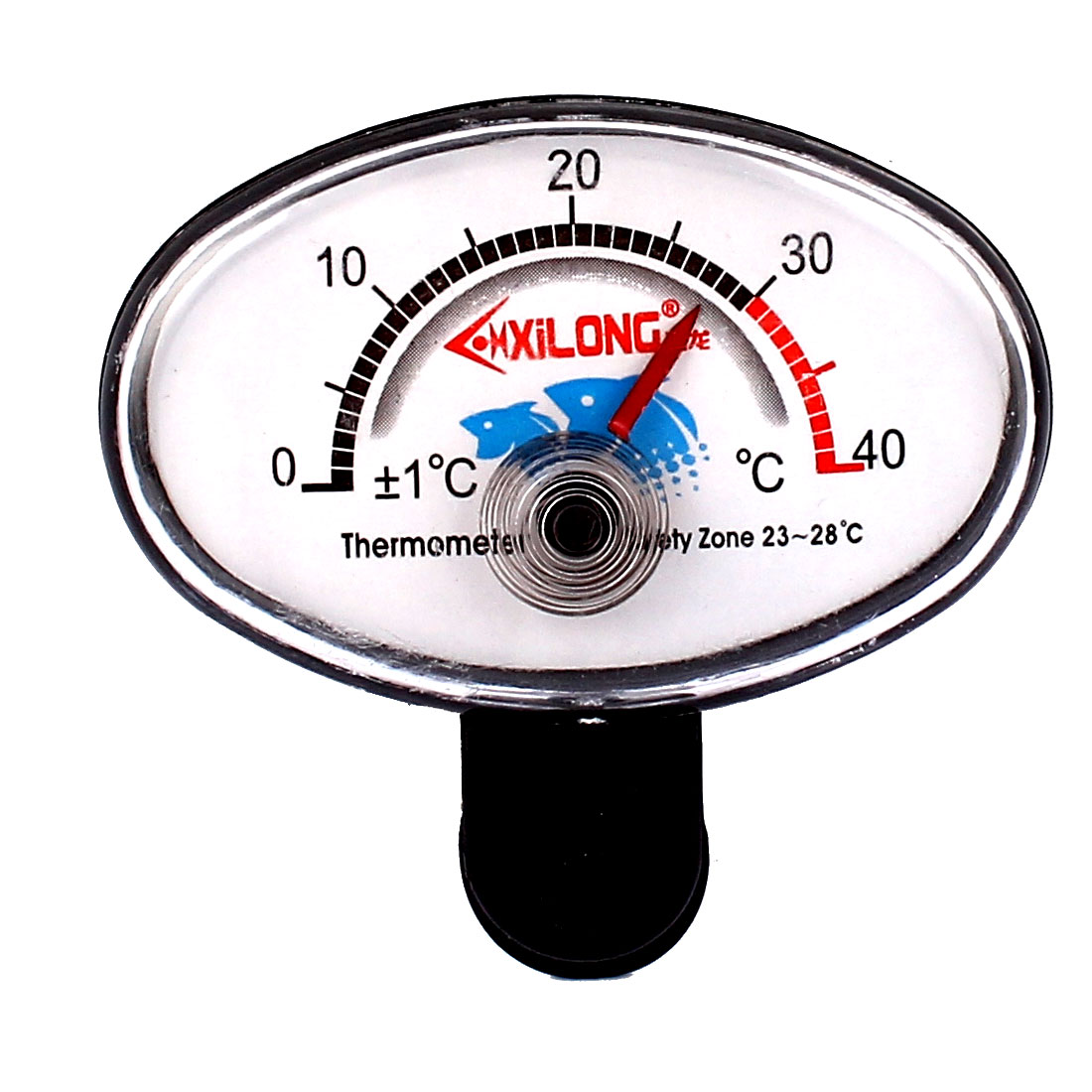 Aquarium Plastic Round Dial 0 to 40 Celsius Degrees Thermometer Hygrometer