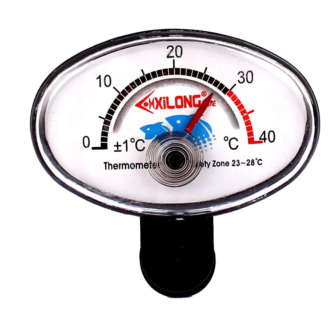 Aquarium Plastic Round Dial 0 to 40 Celsius Degrees Thermometer Hygrometer
