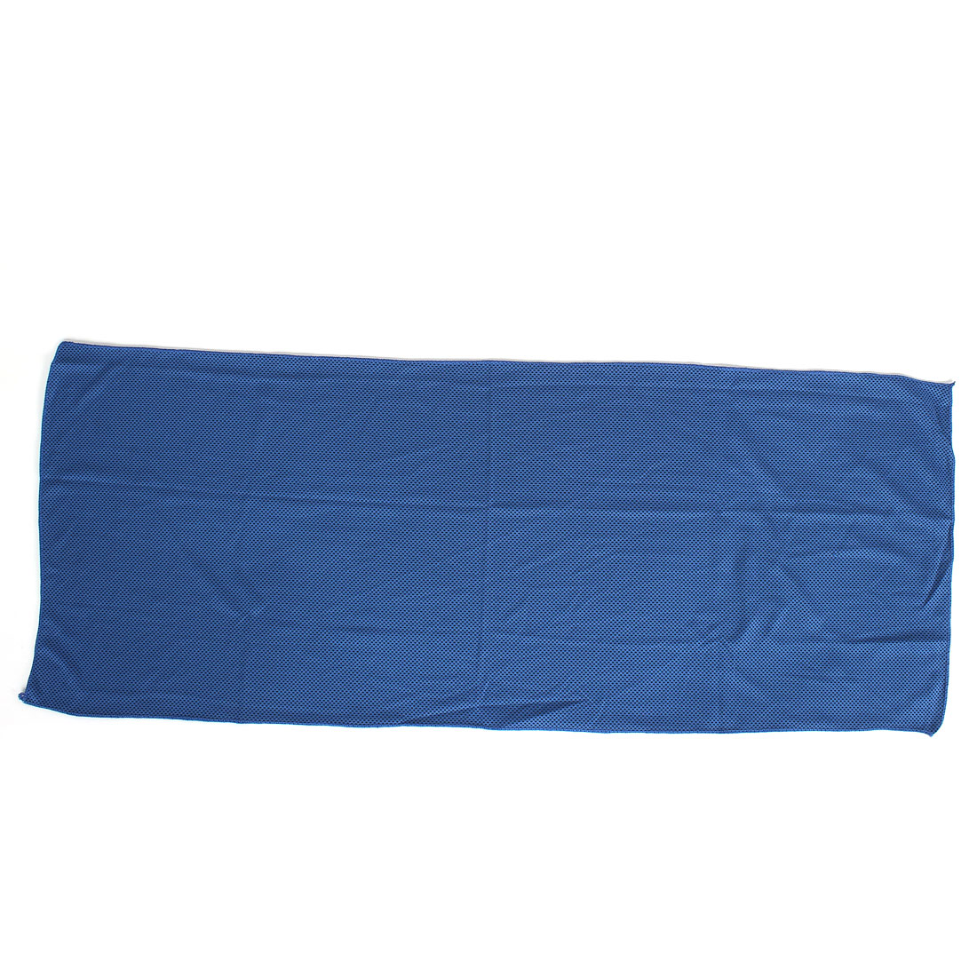 Runner Stretchy Spandex Drying Water Absorbent Towel Terrycloth Blue