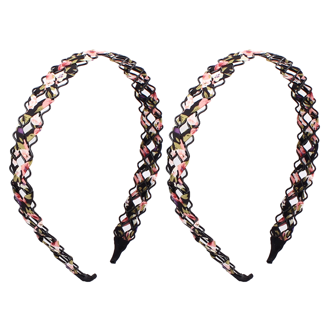 Girl Cloth Braided Wave Hairband Hair Hoop Headband Ornament 2 PCS