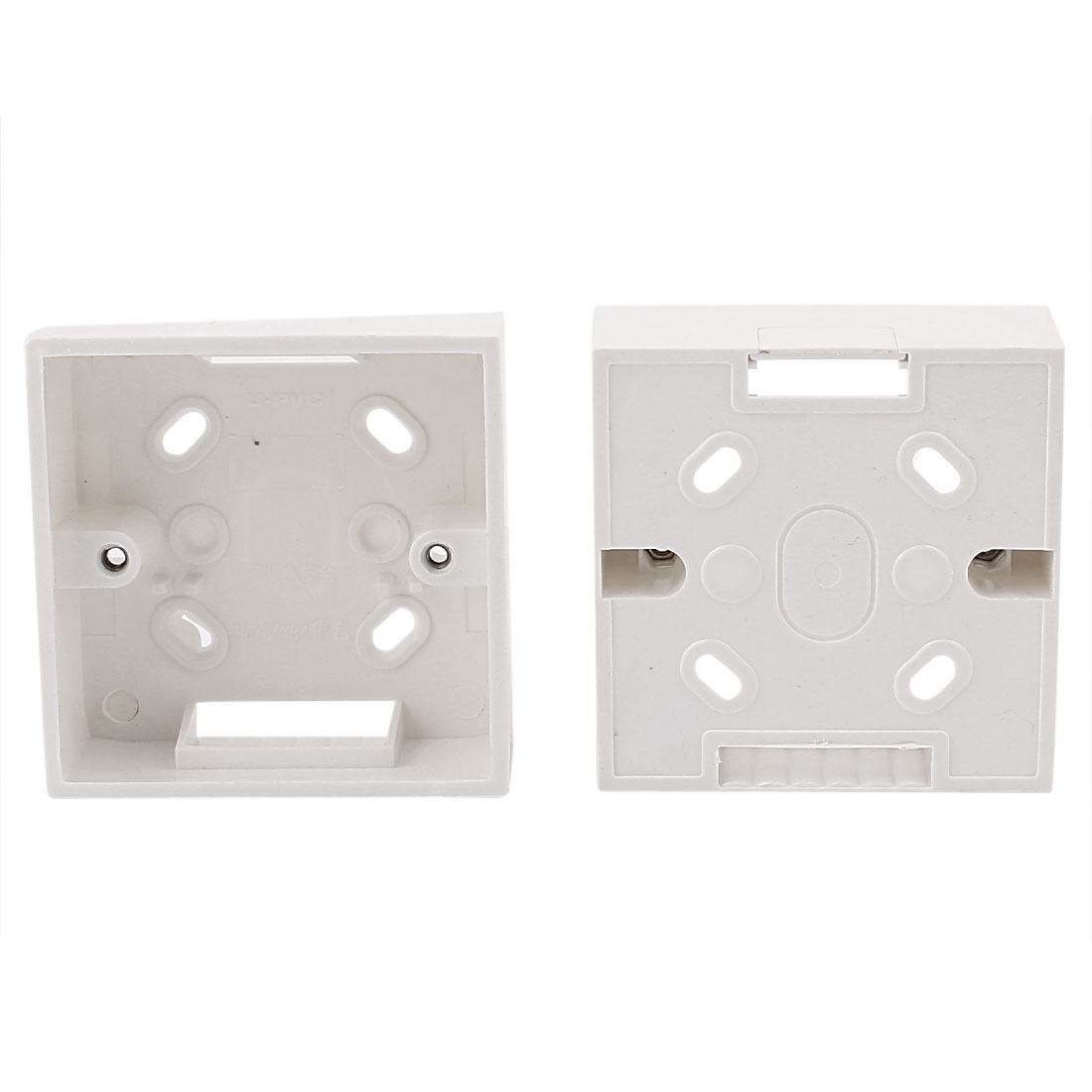 2pcs Surface Mount Pattress Back Box White 86mm x 86mm x34mm