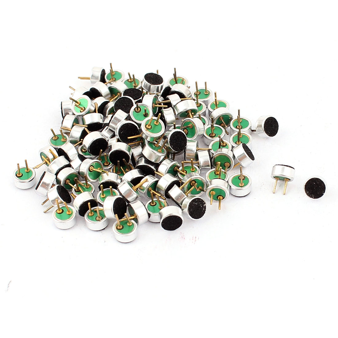 100pcs 4.5mm x 2.2mm Through Hole Mini Electret Microphone Condenser Pickup