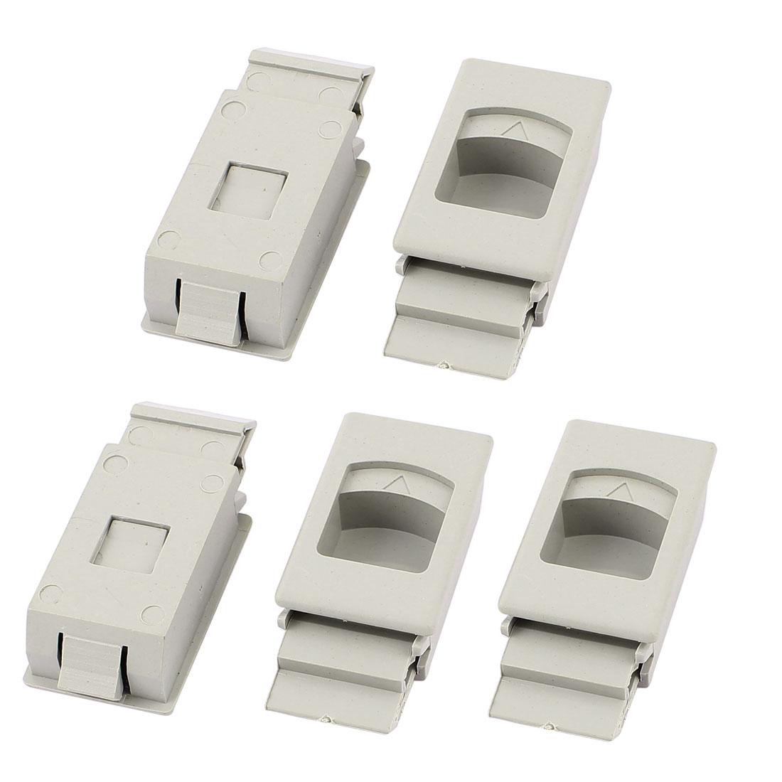 Cabinet Cupboard Drawer Inside Pull Triangle Mark Plastic Latch Gray 5pcs