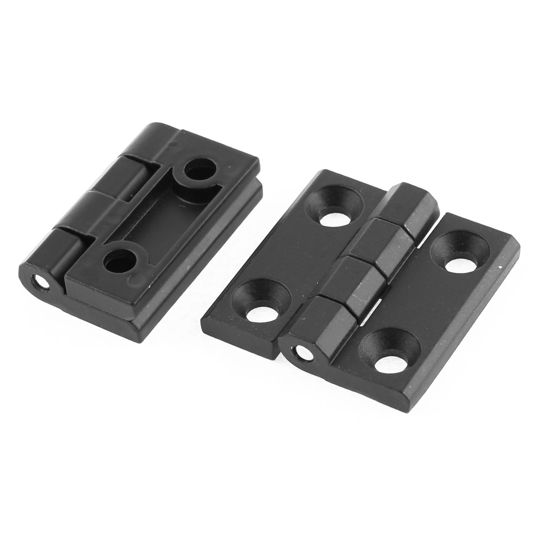 40mm x 40mm Zinc Alloy Closet Cabinet Door Butt Hinge Black 2Pcs